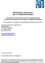 Richtlijn Markering en documenten hijs- en hefgereedschappen